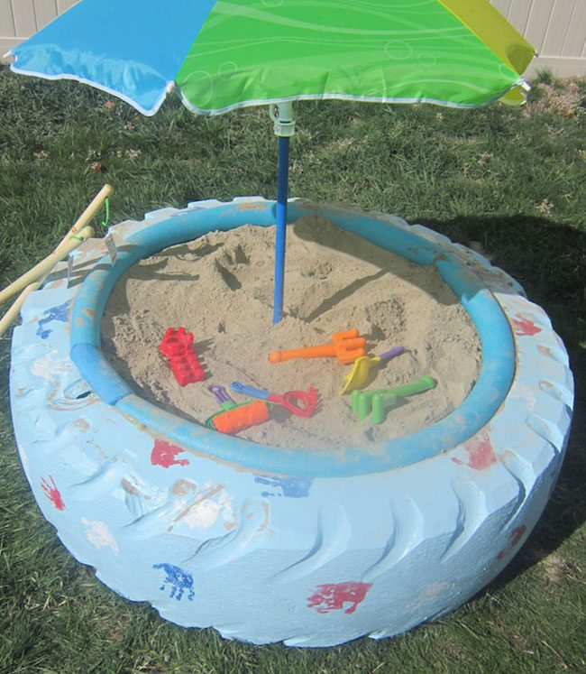 funny-clever-alternatives-every-day-objects-tire-sand-box