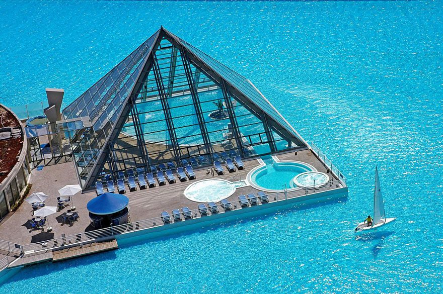 cool-private-resort-pool-glass-pyramid