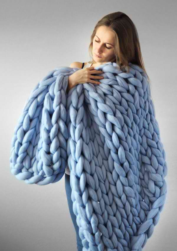 hand-knitted blankets