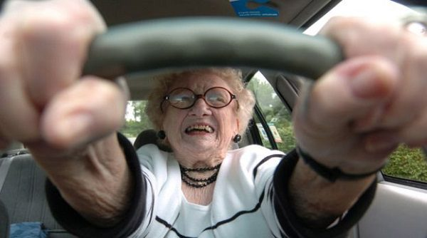 jokes about elderly women driving