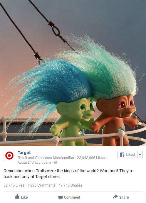 Target fake customer service troll