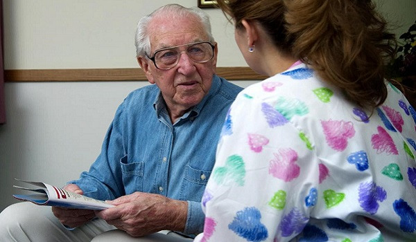 visiting wife with Alzheimer's