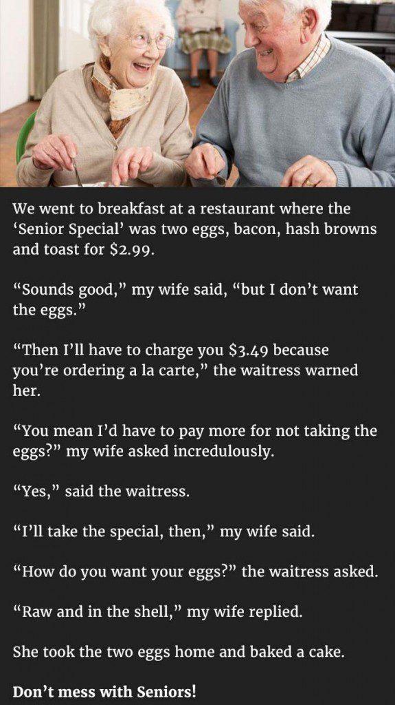 senior special breakfast