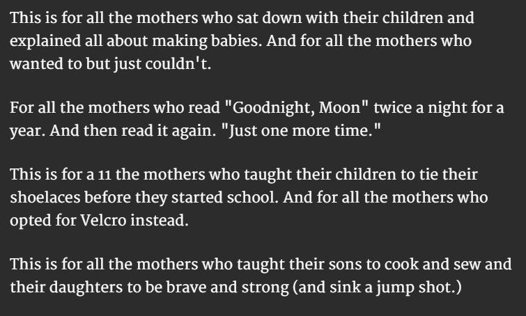 Motherhood Definition 3