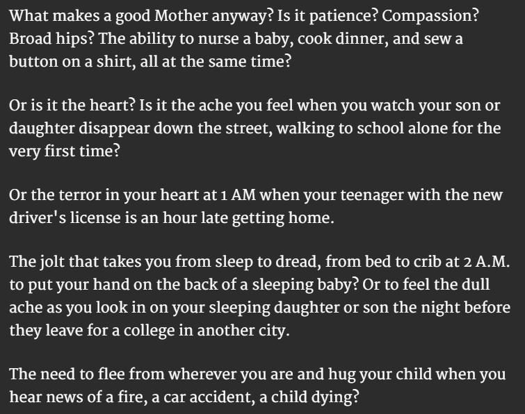 Motherhood Definition 5