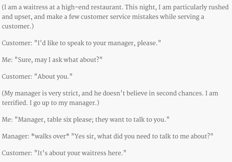waitress at the restaurant 1
