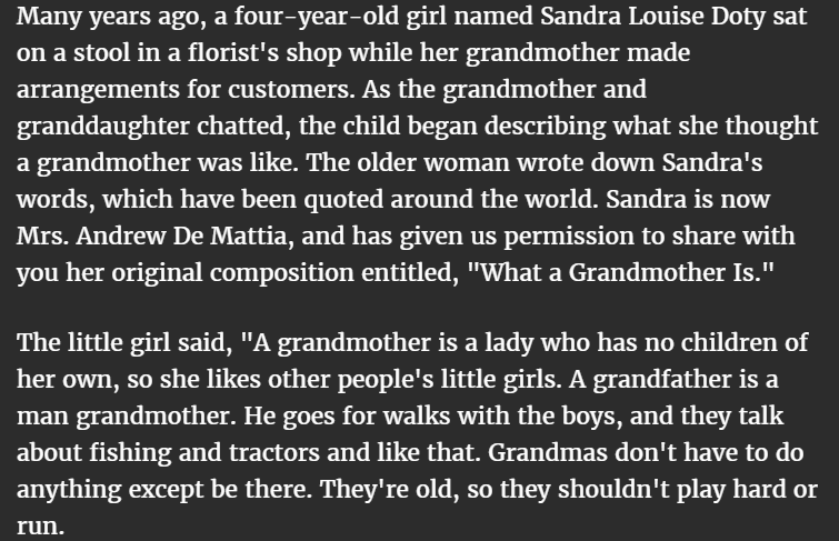 what is a grandmother 1