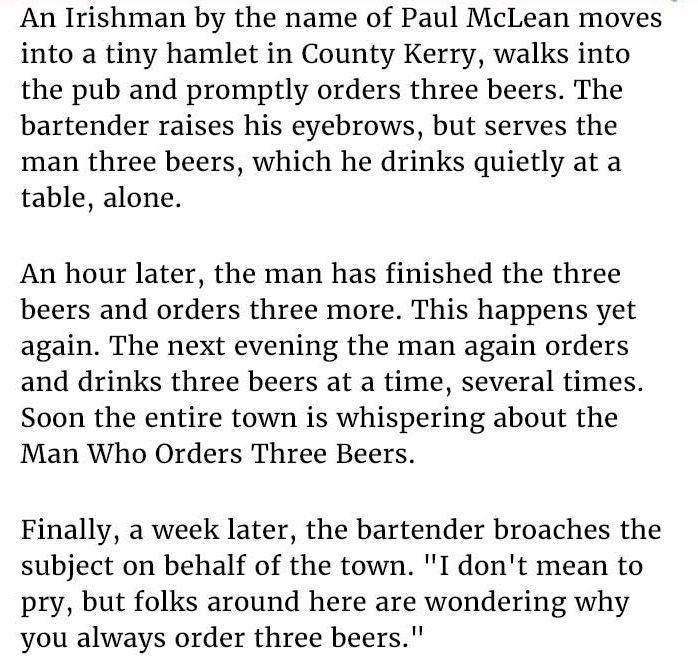Who Orders Three Beers