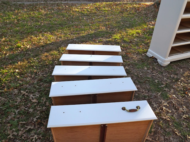 arranged drawers outside 2