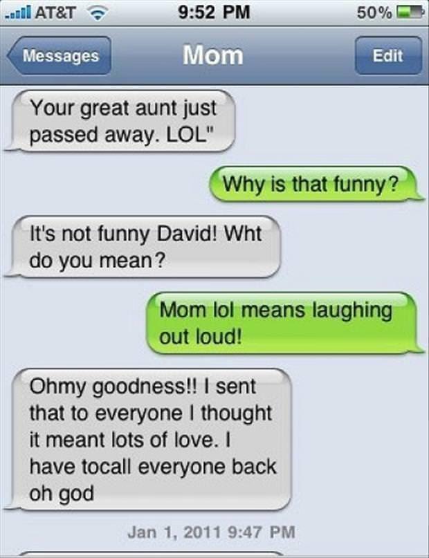 hilarious mom texts