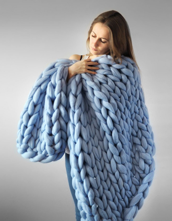 how to knit a blanket 2