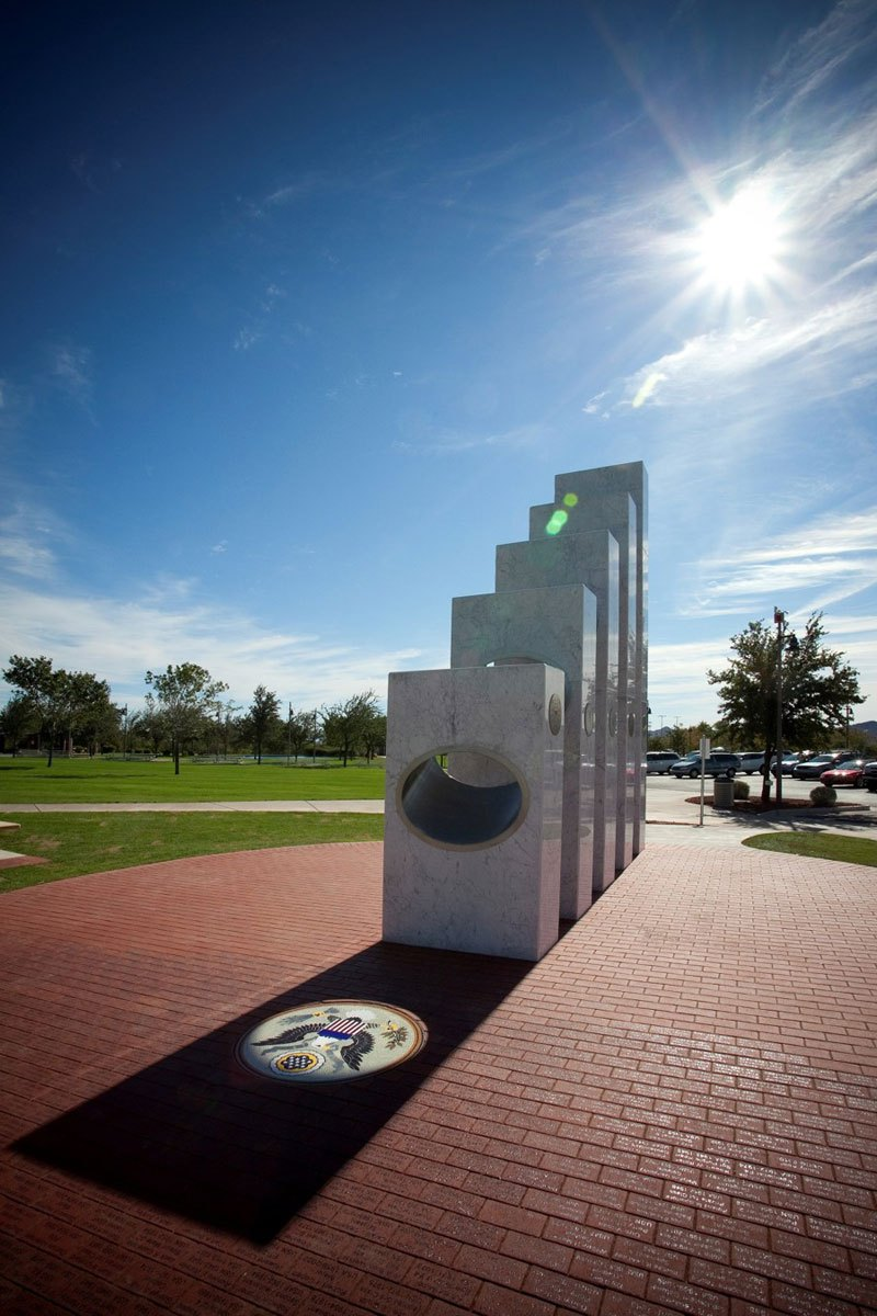 Sun shines monument 1