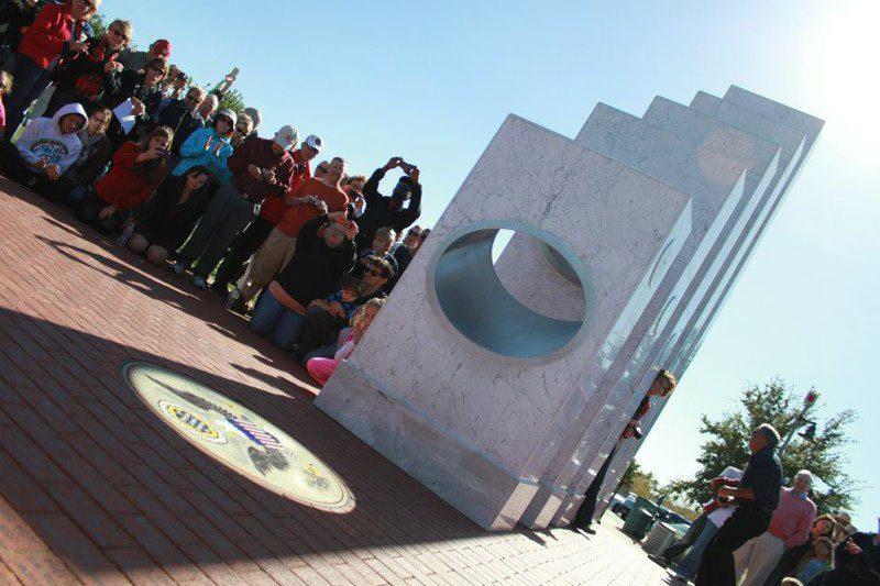 Sun shines monument 6