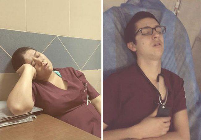 doctors sleeping 10