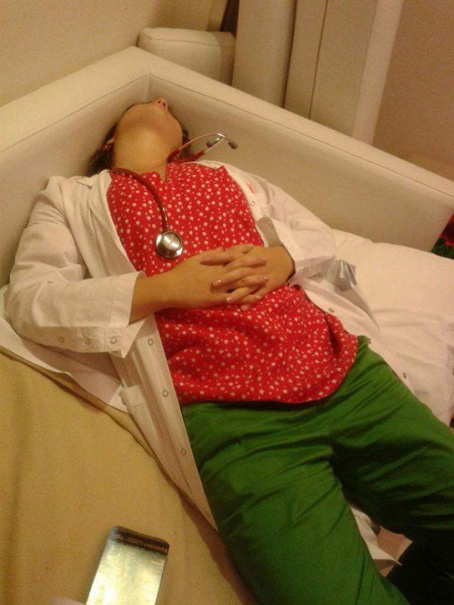doctors sleeping 12