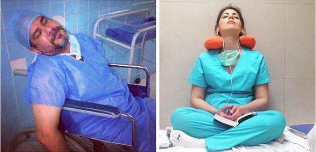 doctors sleeping 13