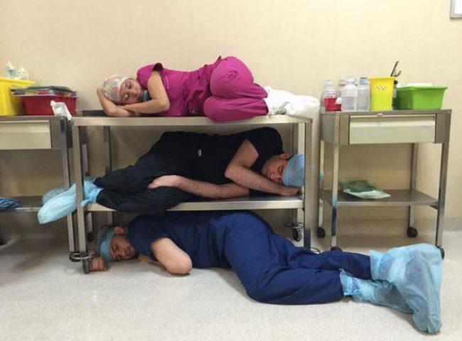 doctors sleeping 4