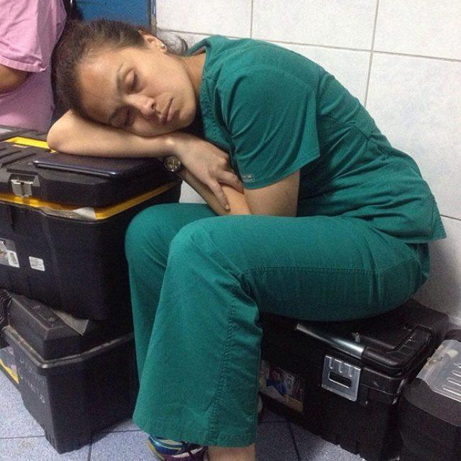 doctors sleeping 7