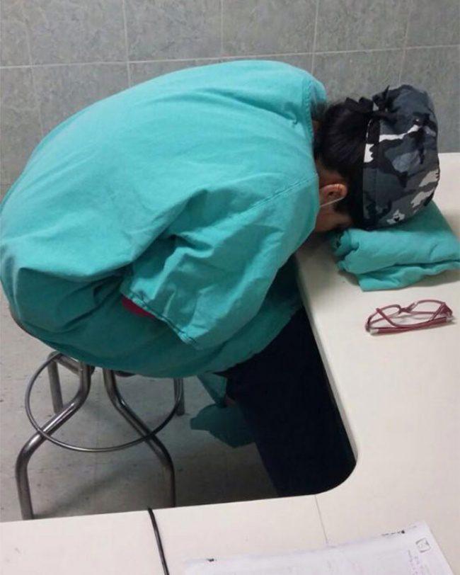 doctors sleeping 8