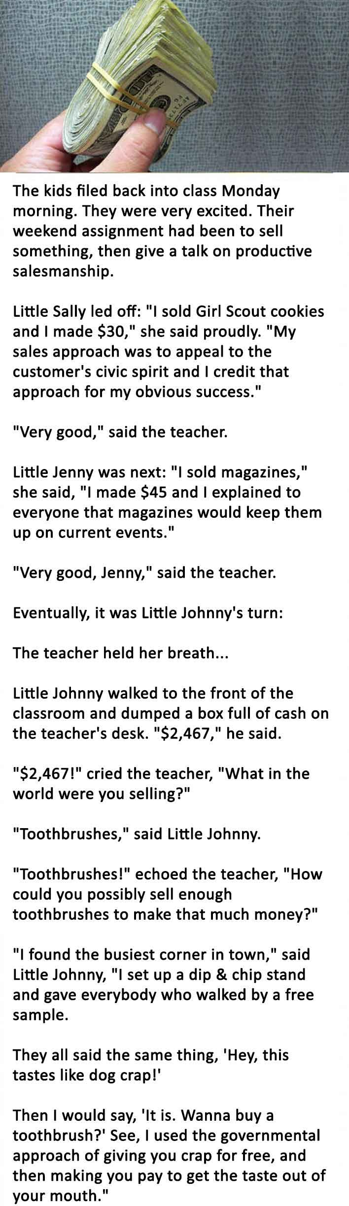 kid earn from school assignment