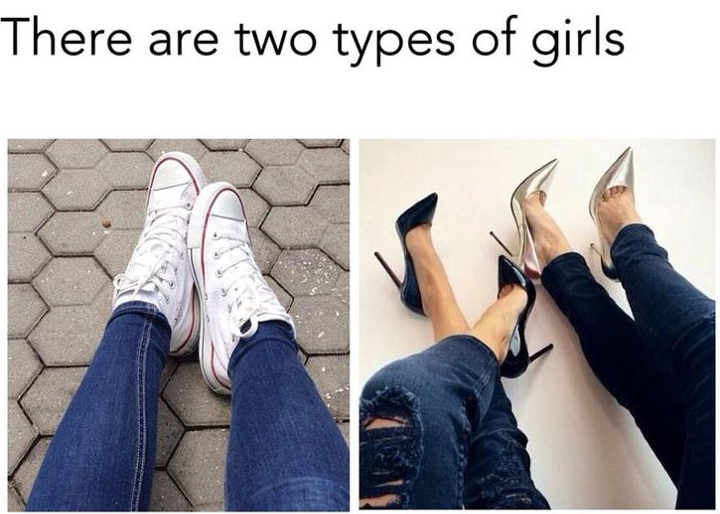 types of girls 18
