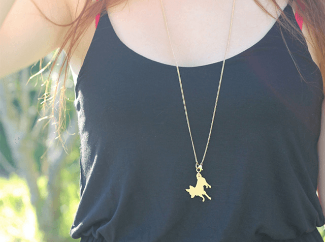 dog silhouette necklace