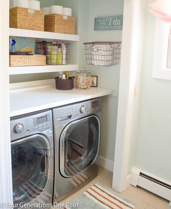 ideas for organized laundry room