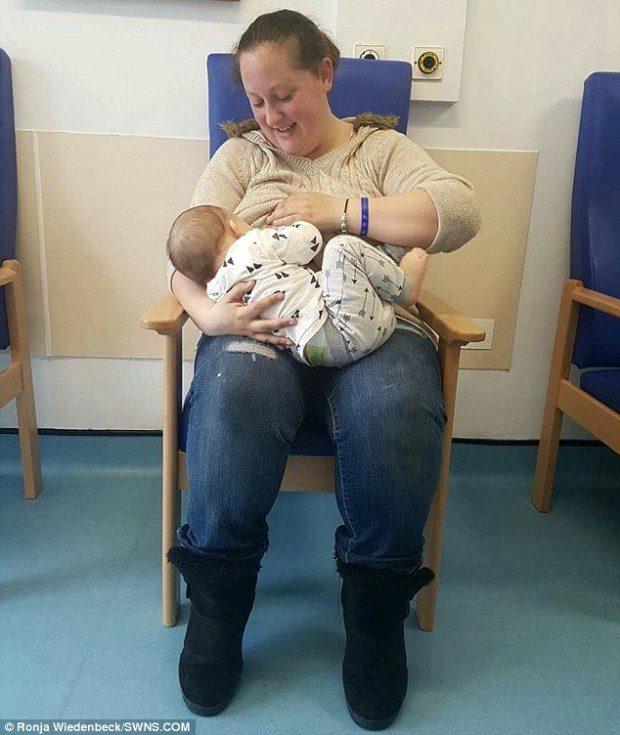 mom let strangers breastfeed son