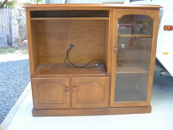 old tv cabinet recycled