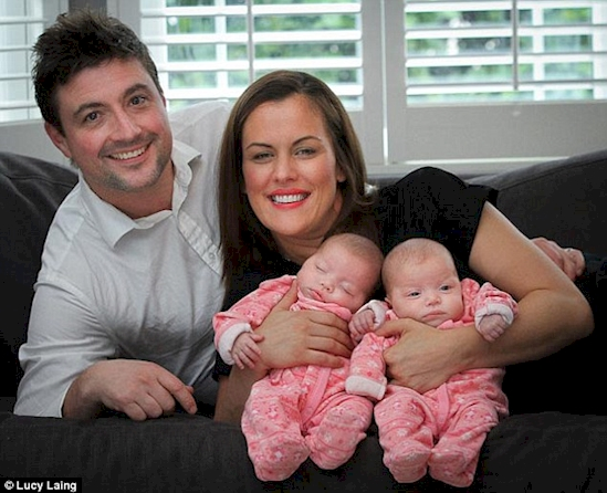 twin sister gives birth to twins