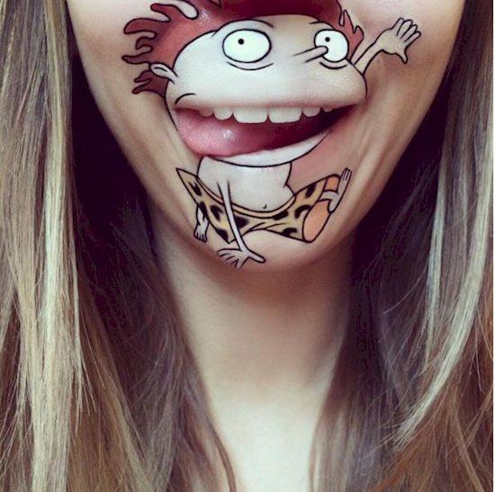 character lip transformation