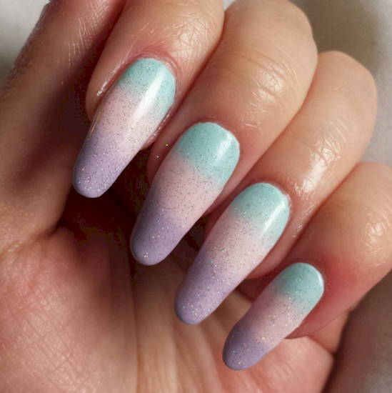 cotton candy nails 1