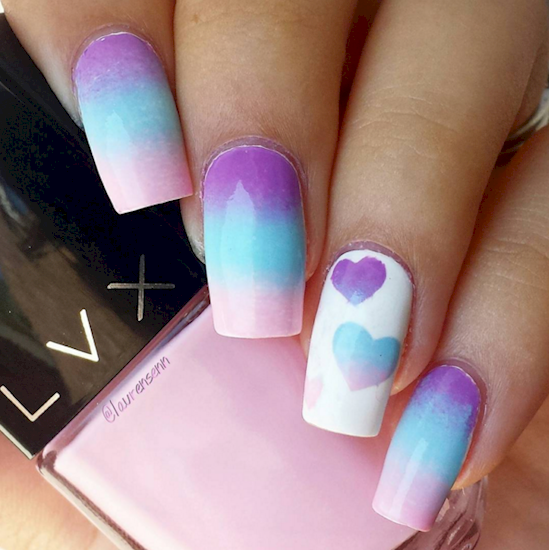 cotton candy nails 6