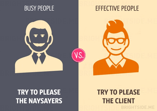 difference between busy and effective