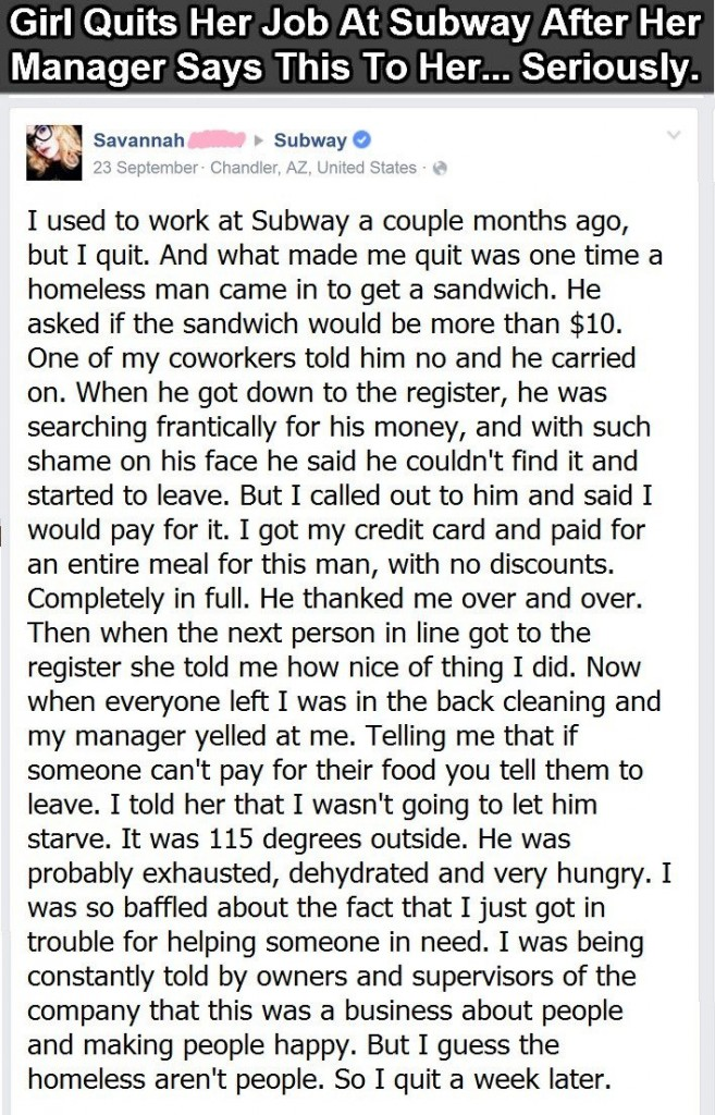 girl quits her job