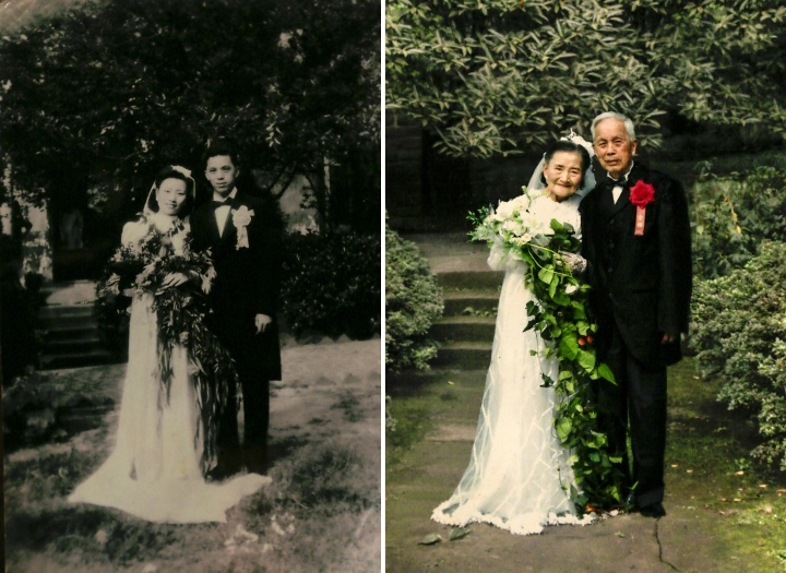 mark old couple cute wedding 1