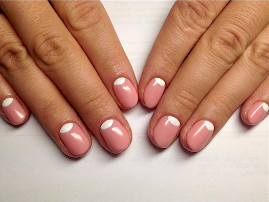 rose pink manicure ideas 1
