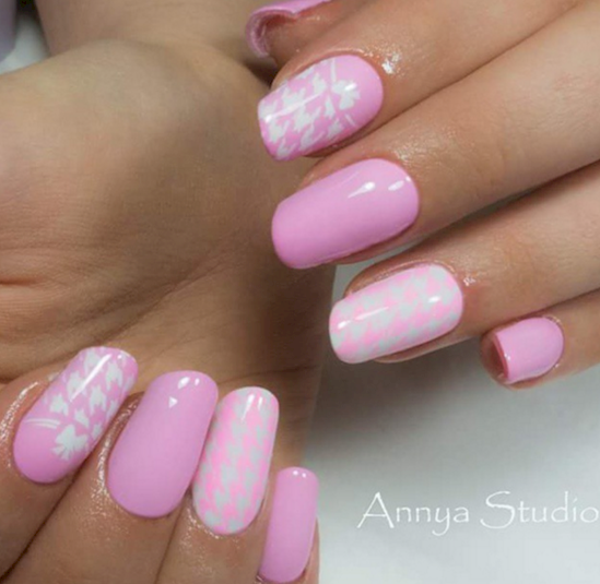 rose pink manicure ideas 11