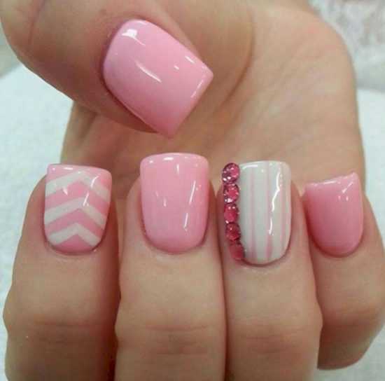 rose pink manicure ideas 13