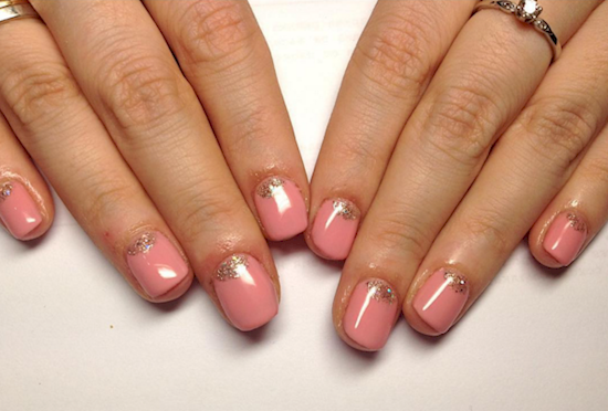rose pink manicure ideas 7