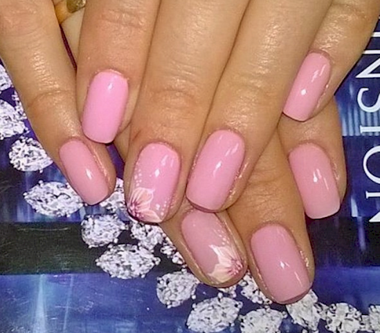 rose pink manicure ideas 8