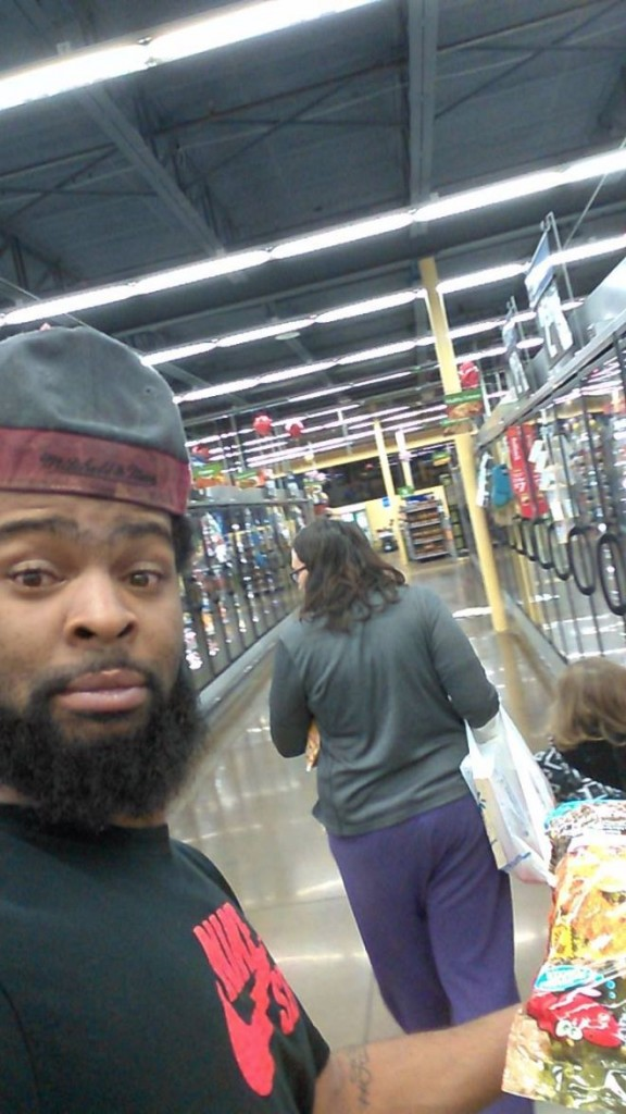 selfie on wal-mart posted on fb 1