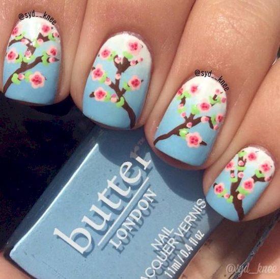 spring floral nails 8