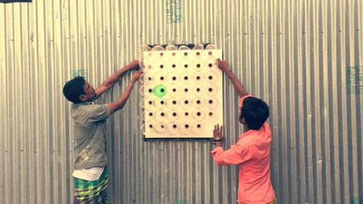 air conditioner made in plastic bottles 4