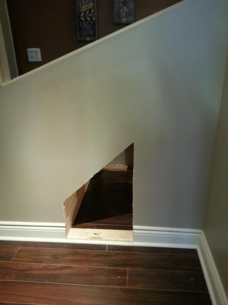 dog house under the stairs 1