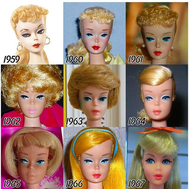 evolution of Barbie doll 1