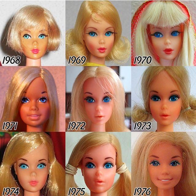 evolution of Barbie doll 2