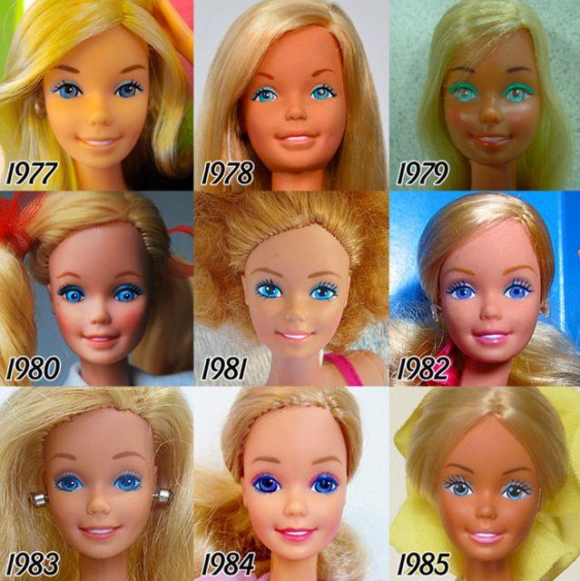 evolution of Barbie doll 3