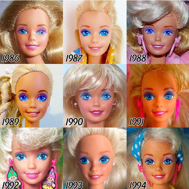 evolution of Barbie doll 4