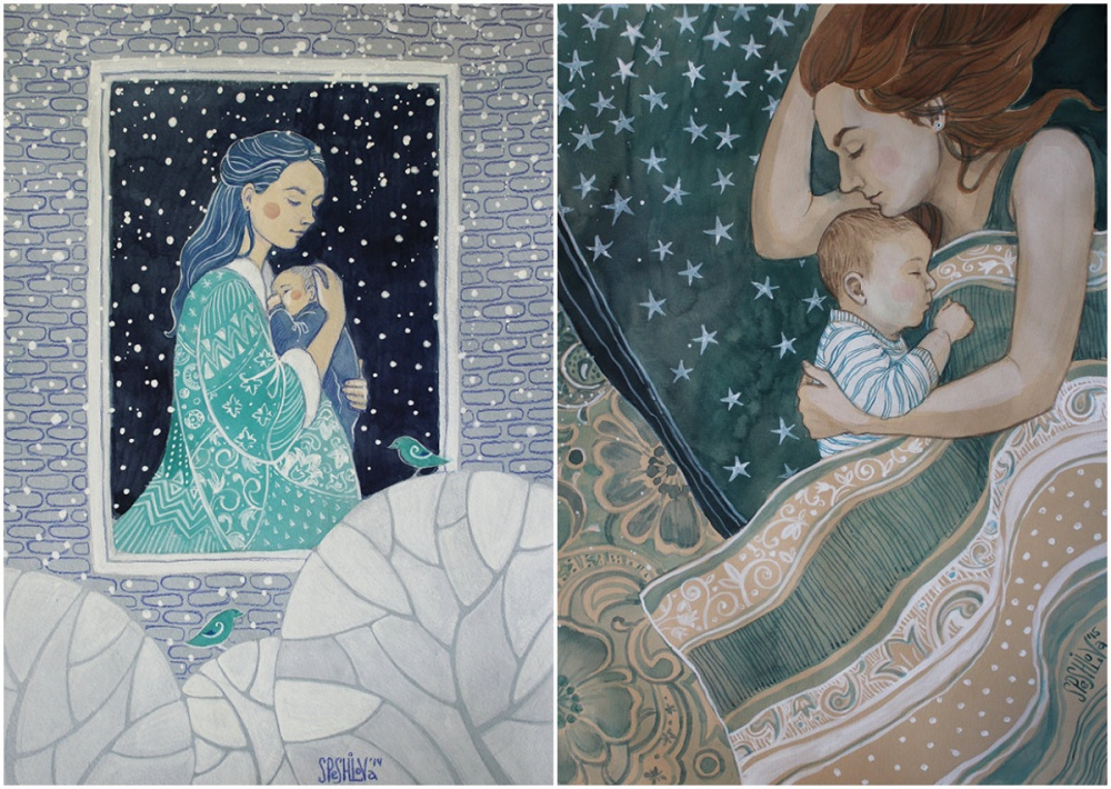illustrations for dearest mothers 4
